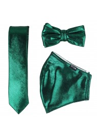 Glitter Mask Set in Pine Green