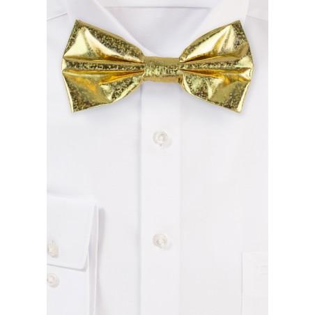 Festive Glitter Bow Tie in Gold