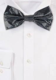 Metallic Print Bow Tie