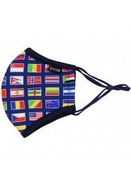 International Flag Mask in Kids Size