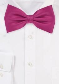 Bow ties  - Solid color bow tie in dark pink
