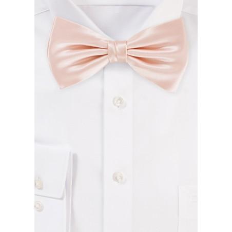Bow Tie in Peach Blush