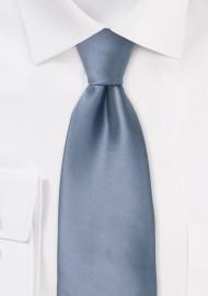 Solid Mens Tie in Slate Blue