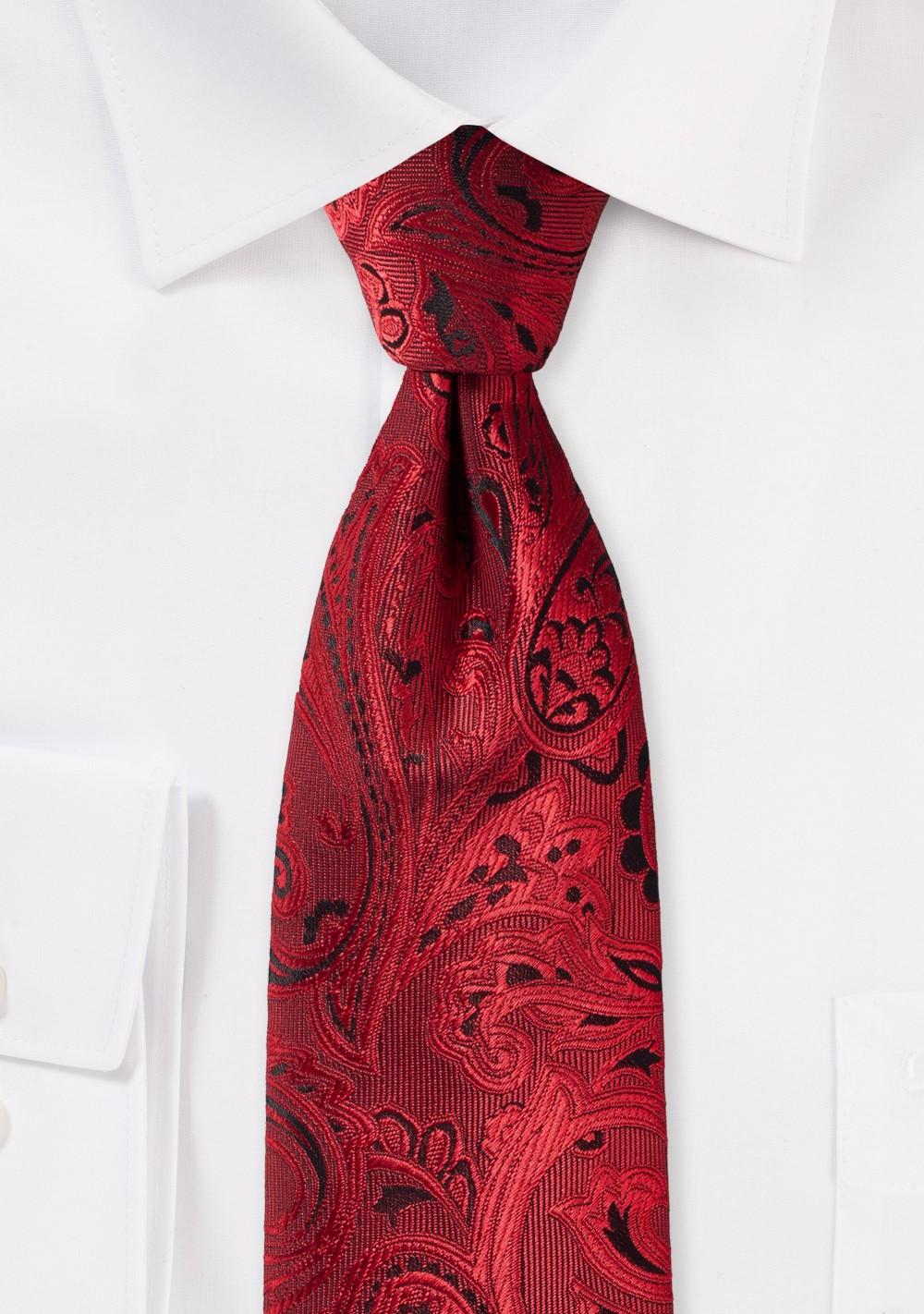 Ruby Red Kids Paisley Tie