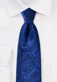Royal Blue Kids Paisley Tie