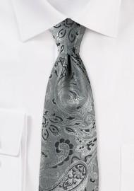 Mercury Silver Paisley Kids Tie