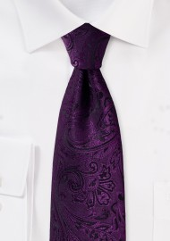 Paisley Tie for Kids in Berry