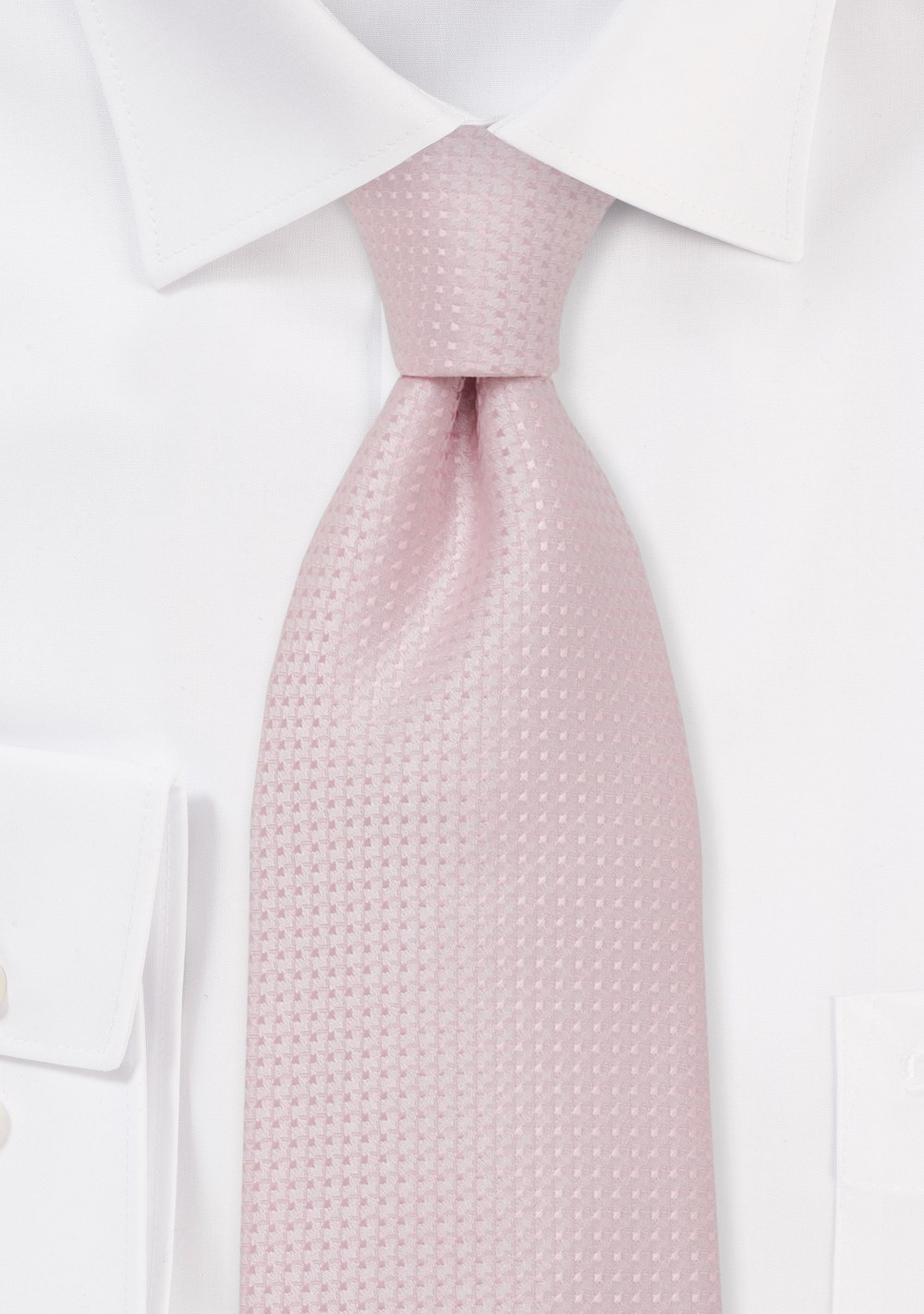 Pink Silk Tie - Handmade silk tie in light pink