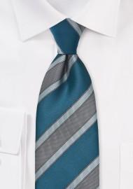 Striped Tie in Mediterranean Blues