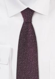 Skinny Designer Tie in Port Red