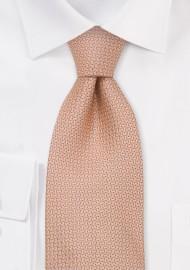 Salmon Designer Silk Tie in Kids Size