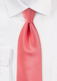 Elegant Wedding Tie in Coral Reef