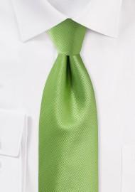 Kiwi Green Formal Mens Tie
