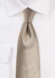 Golden Textured Tie in Modern Cut
