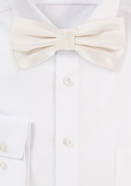 Textured Mens Bow Tie in Ivory
