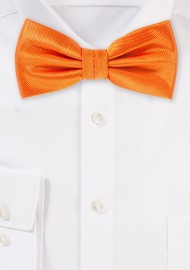 Dressy Mens Bow Tie in Tangerine