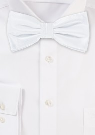 Formal Bright White Bow Tie