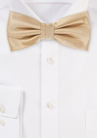 Wedding Bow Tie in Golden Champagne