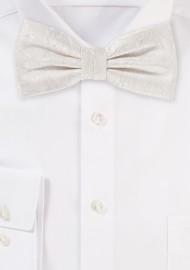 Ivory Paisley Bow Tie