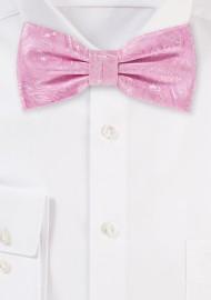 Carnation Pink Wedding Bow Tie