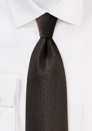 Espresso Brown Herringbone Tie