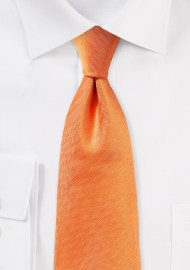 Herringbone Tie in Tangerine