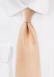 Herringbone Tie in Peach Apricot