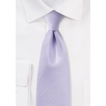 Herringbone Tie in Sweet Lavender