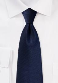 Midnight Blue Tie with Herringbone Weave
