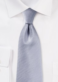 Herringbone Tie in Silver