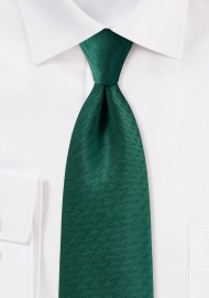 Hunter Green Tie with Texture
