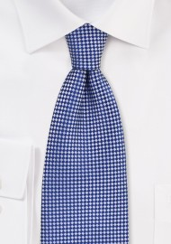 Royal Blue and Silver Diamond Tie