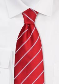 Bright Red Ties - Bright red men's necktie