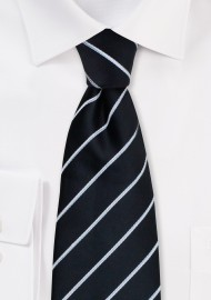 Formal Black and Silver Tie in XL