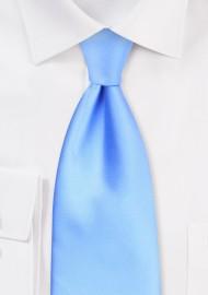 Solid Mens Tie in Capri Blue