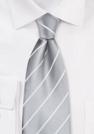 Silver neckties - Gray-silver men's tie