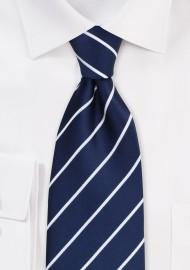 Marine Blue Striped Tie