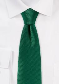 Trendy Skinny Tie in Emerald Green