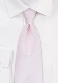 Blush Pink Tie with Elegant Stripes