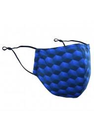 Hex Pattern Filter Mask in Blue