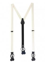 Wedding Formal Ivory Cream Suspenders