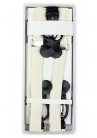 Wedding Ivory Cream Suspender in box
