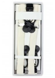 Cream Wedding Suspenders in Box