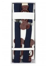 Navy Wedding Suspenders in Box