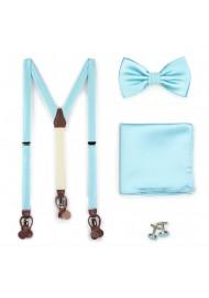 Pool Blue Suspender Bowtie Set