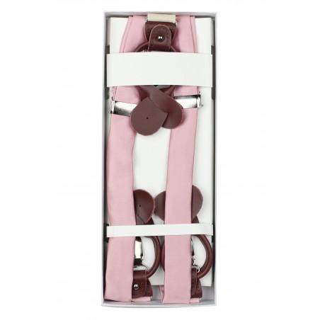 Wedding Suspender in Soft Pink