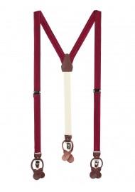 Dress Suspenders in Burgundy