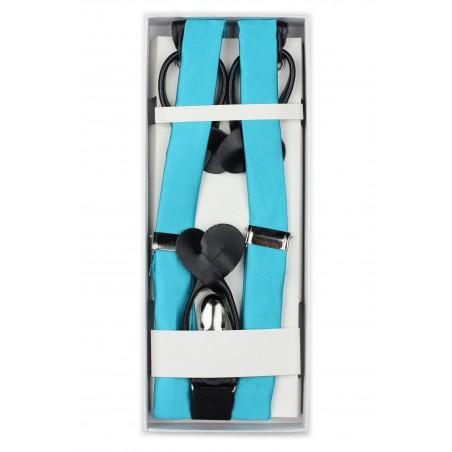 Bold Aqua Suspenders in Box