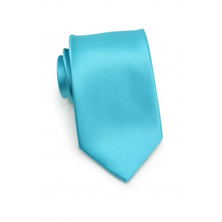 Bold Aqua Necktie