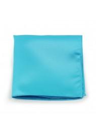 Bold Aqua Pocket Square